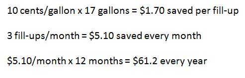 gas price saving